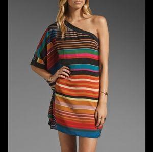 Trina Turk Dress Striped Wonderland One Shoulder 4